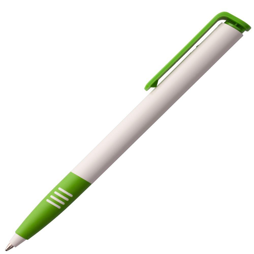 Ручка шариковая Senator Super Soft, белая с зеленым