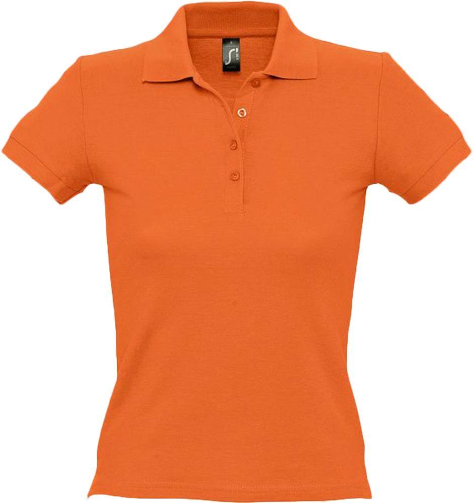 Рубашка поло женская PEOPLE 210, оранжевая