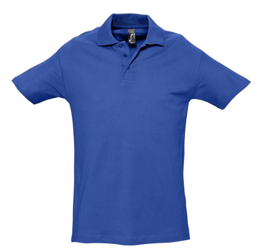 Рубашка поло мужская SPRING 210, ярко-синяя (royal)