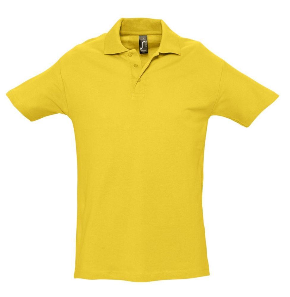 Рубашка поло мужская SPRING 210, желтая