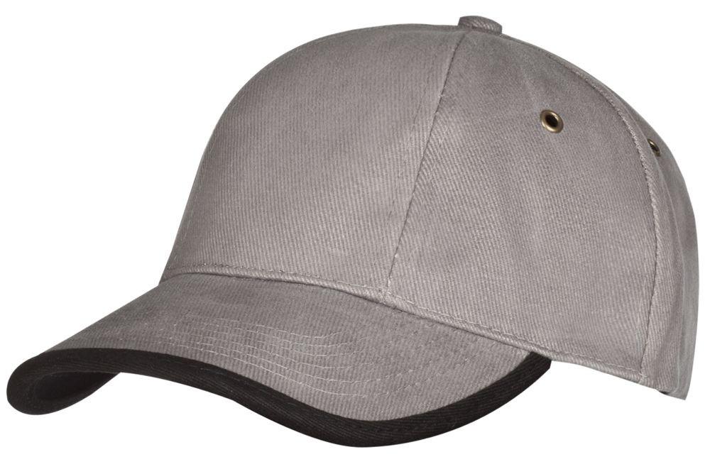 Бейсболка Unit Trendy, серая с черным