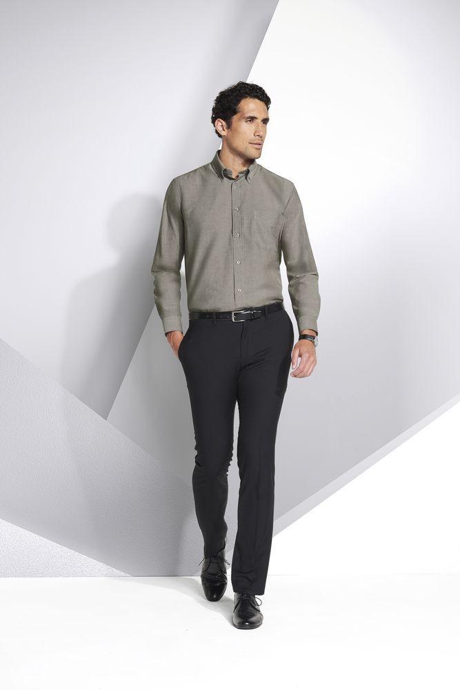 Рубашка мужская с длинным рукавом BOSTON, белая