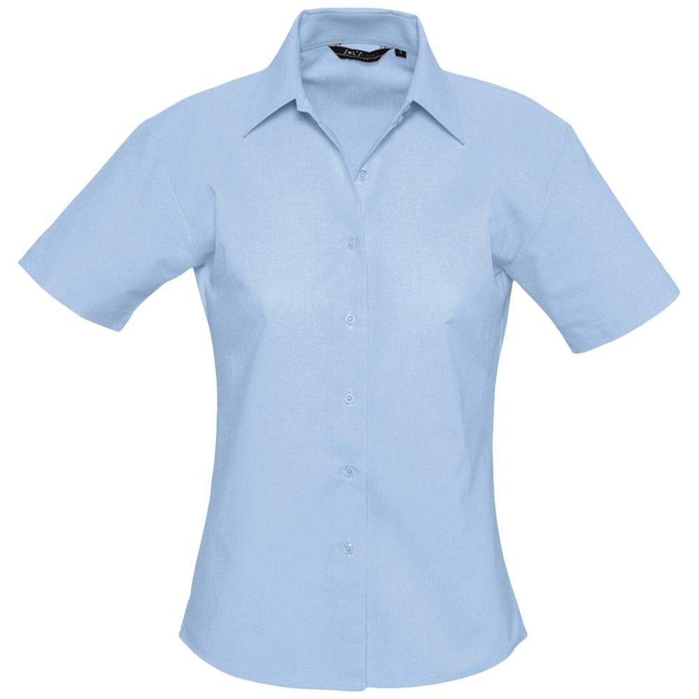 Рубашка женская с коротким рукавом ELITE, голубая