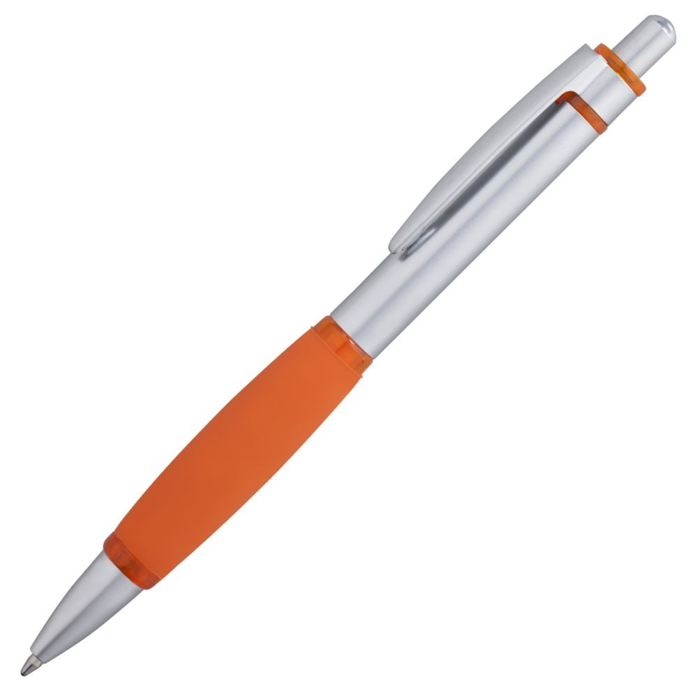 Ручка шариковая Boomer, с оранжевыми элементами