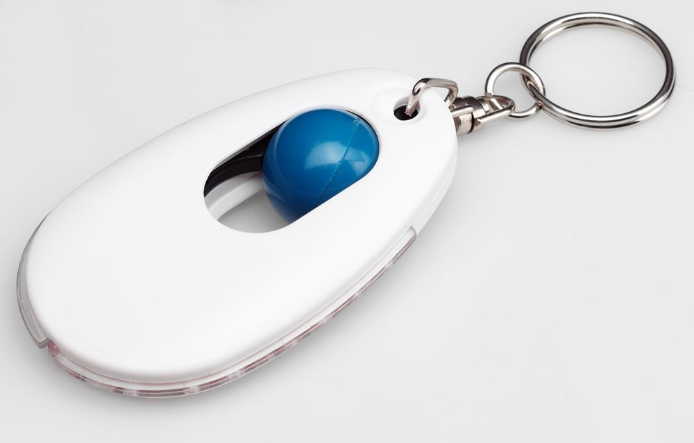 Брелок-фонарик «Суперхит», белый с синим