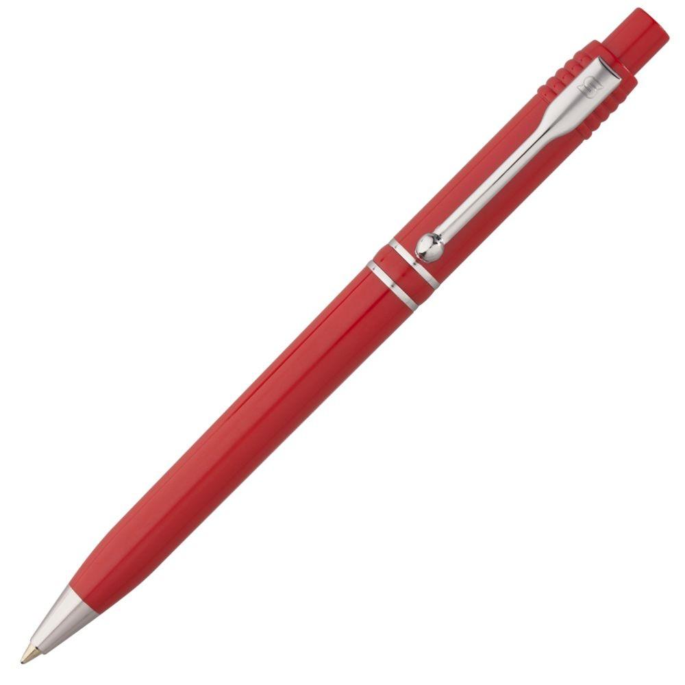 Ручка шариковая Raja Chrome, красная