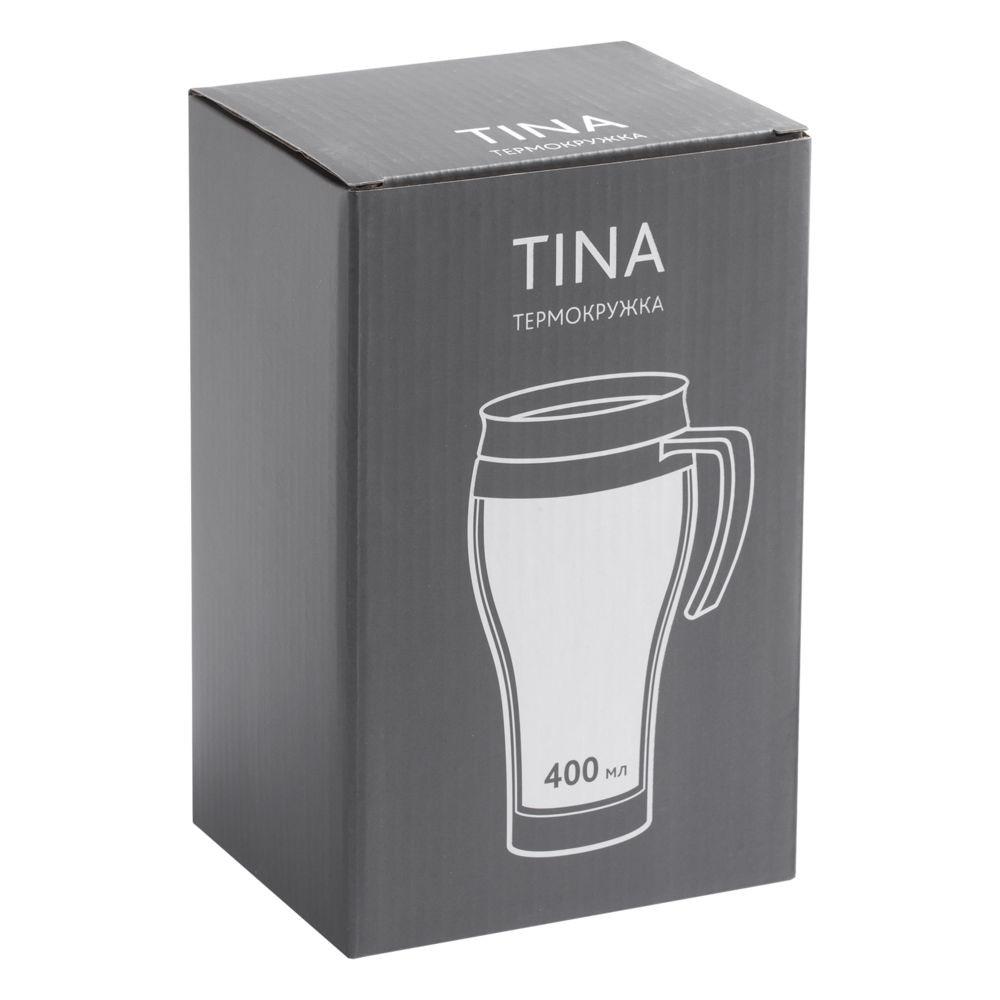 Термокружка Tina, серо-стальная