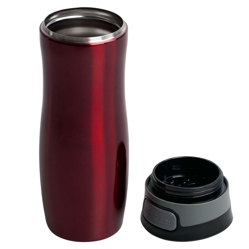 Термостакан Tansley, герметичный, вакуумный, ярко-красный