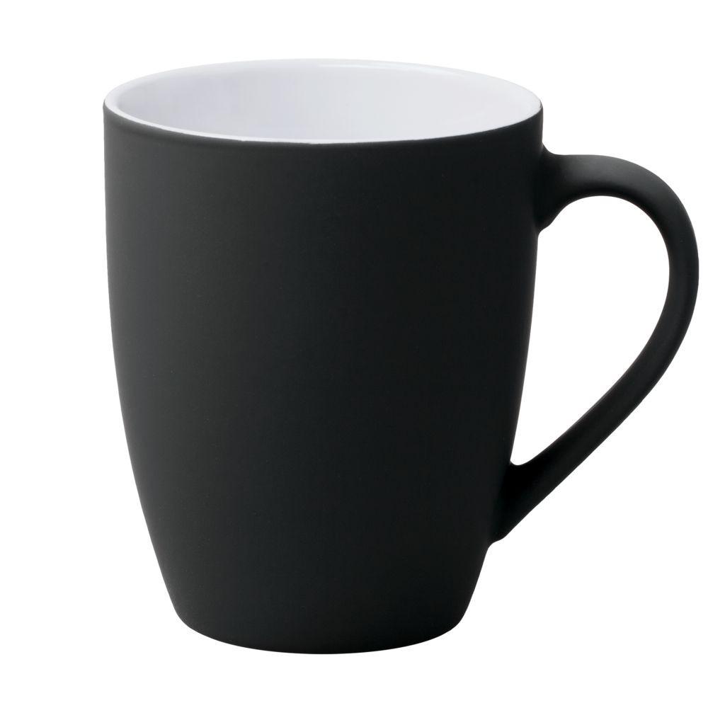 Кружка Good Morning c покрытием софт-тач, черная