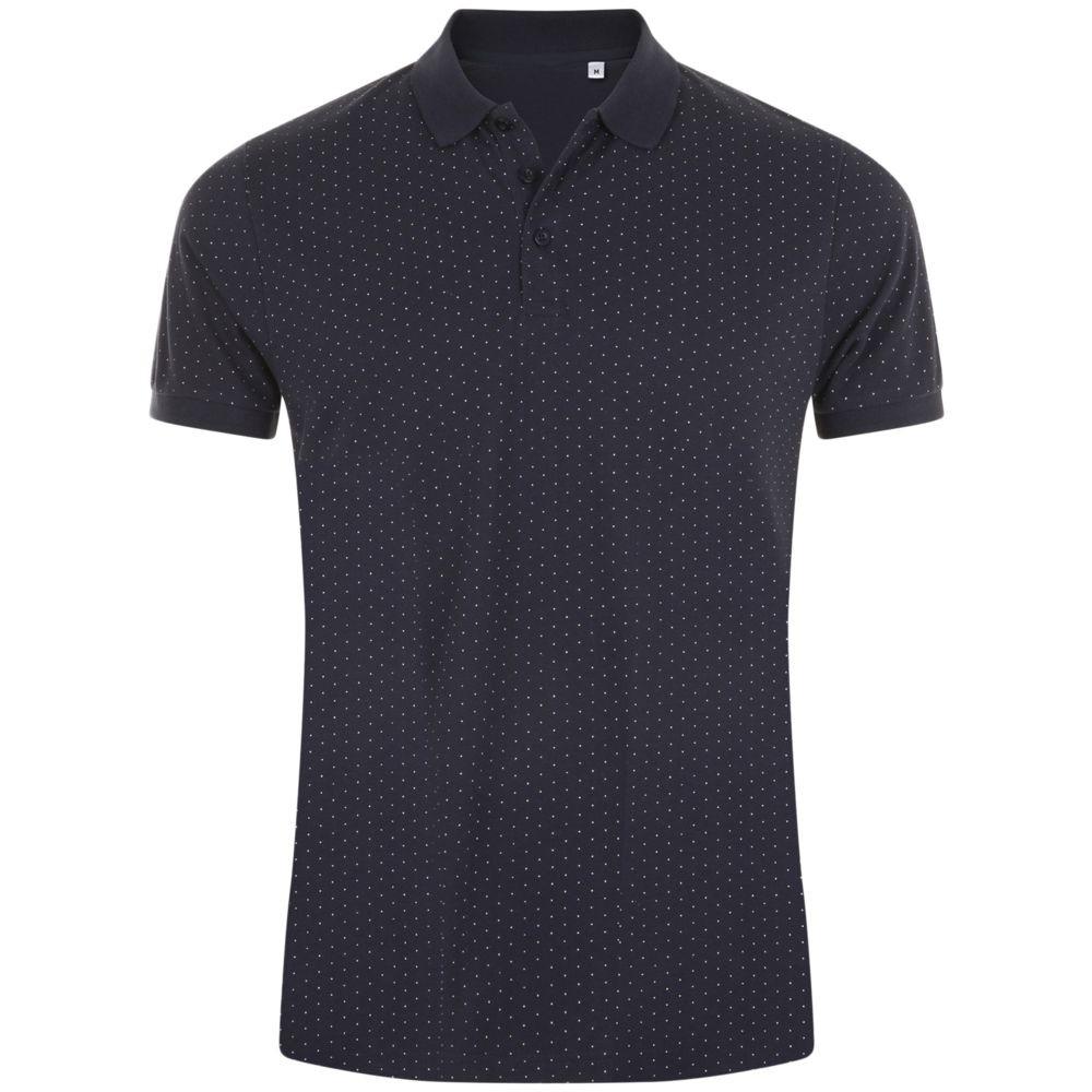 Рубашка поло мужская BRANDY MEN, темно-синяя с белым