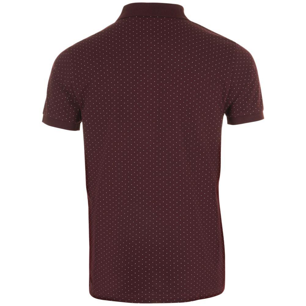 Рубашка поло мужская BRANDY MEN, бордовая с белым