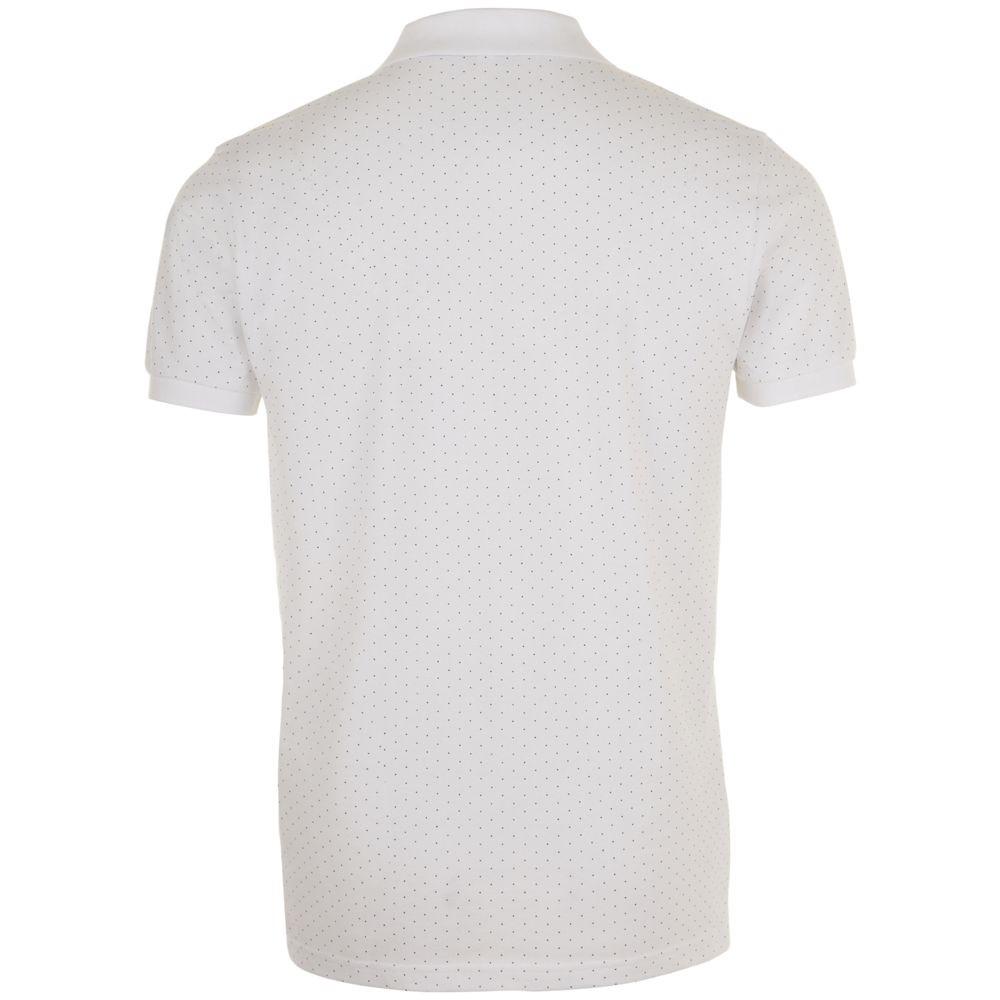 Рубашка поло мужская BRANDY MEN, белая с темно-синим