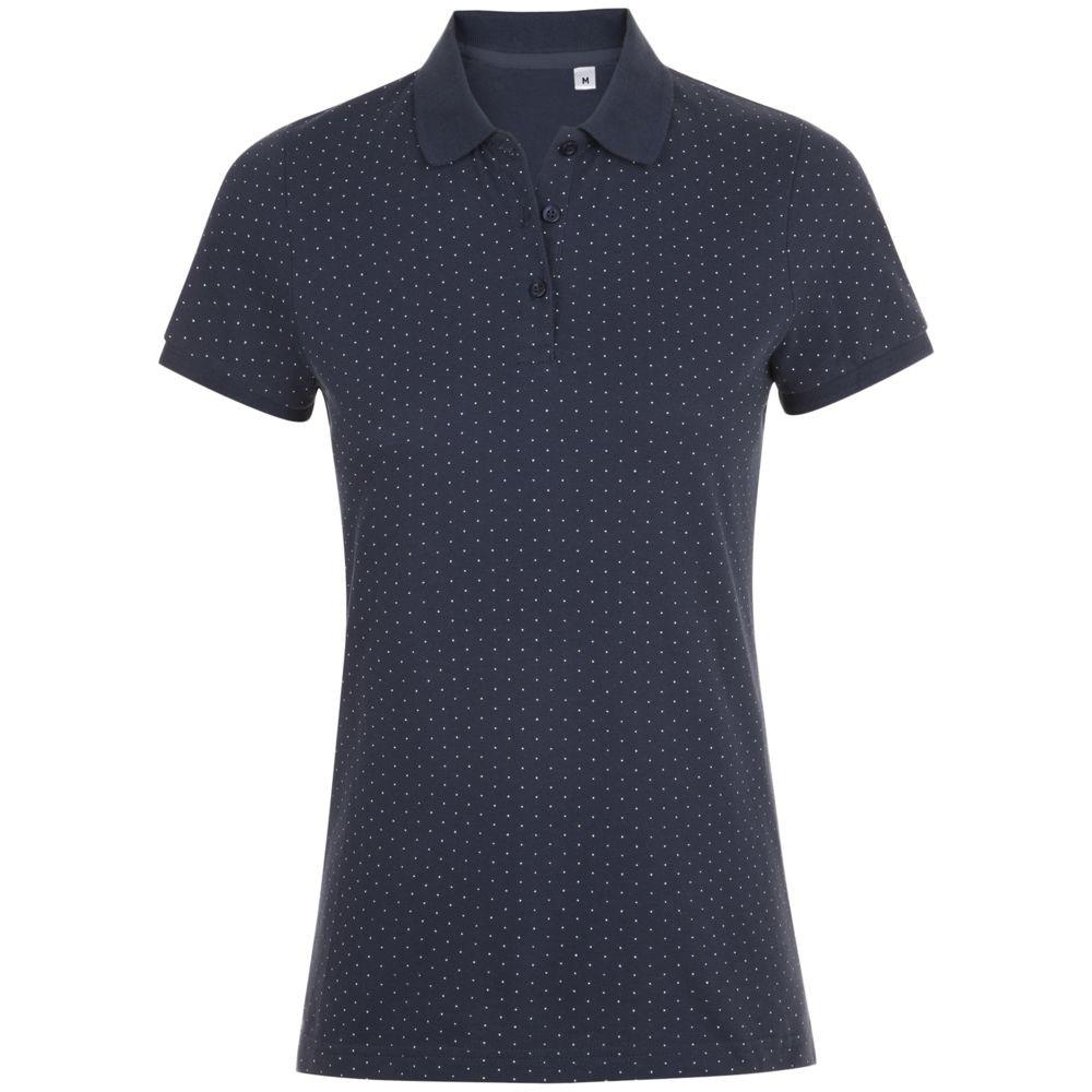 Рубашка поло женская BRANDY WOMEN, темно-синяя с белым