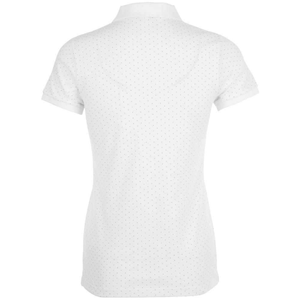 Рубашка поло женская BRANDY WOMEN, белая с темно-синим