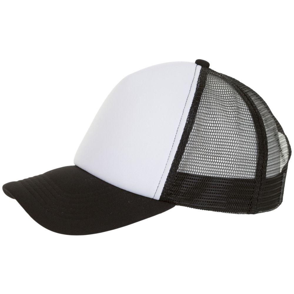 Бейсболка BUBBLE, черная с белым