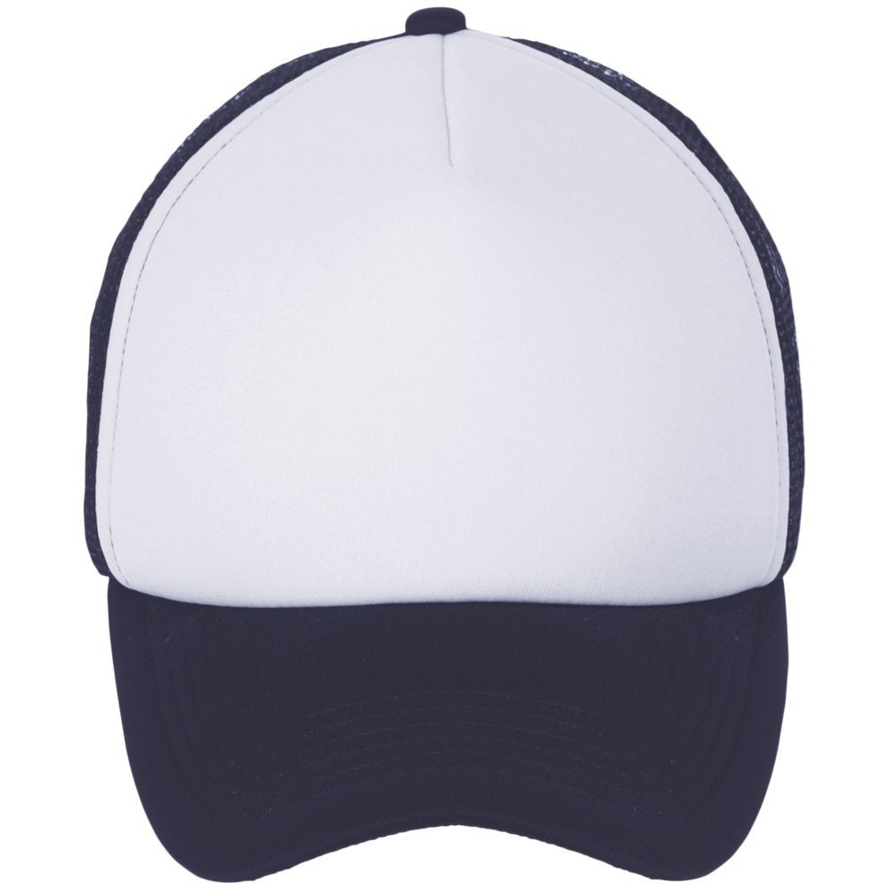 Бейсболка BUBBLE, темно-синяя с белым