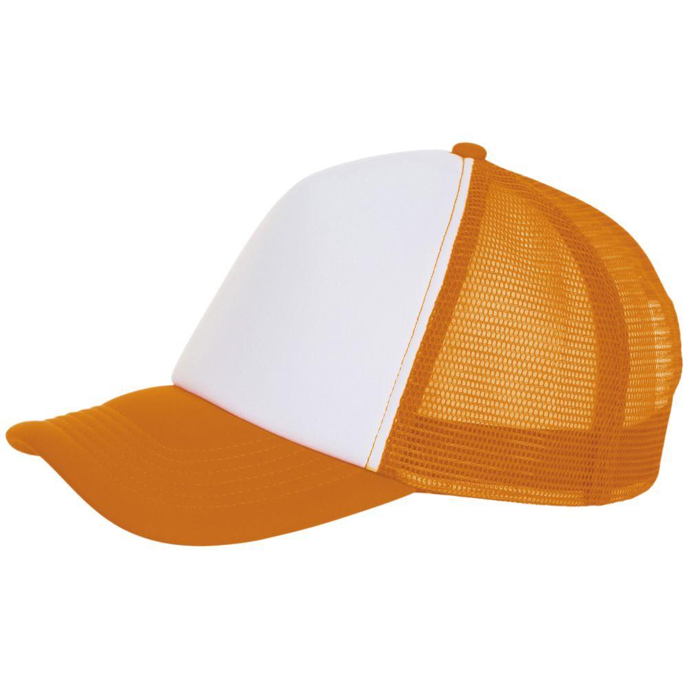 Бейсболка BUBBLE, оранжевый неон с белым