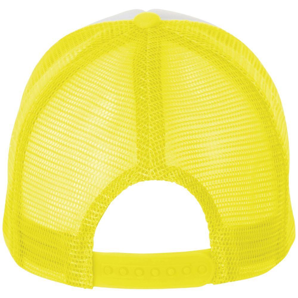 Бейсболка BUBBLE, желтый неон с белым