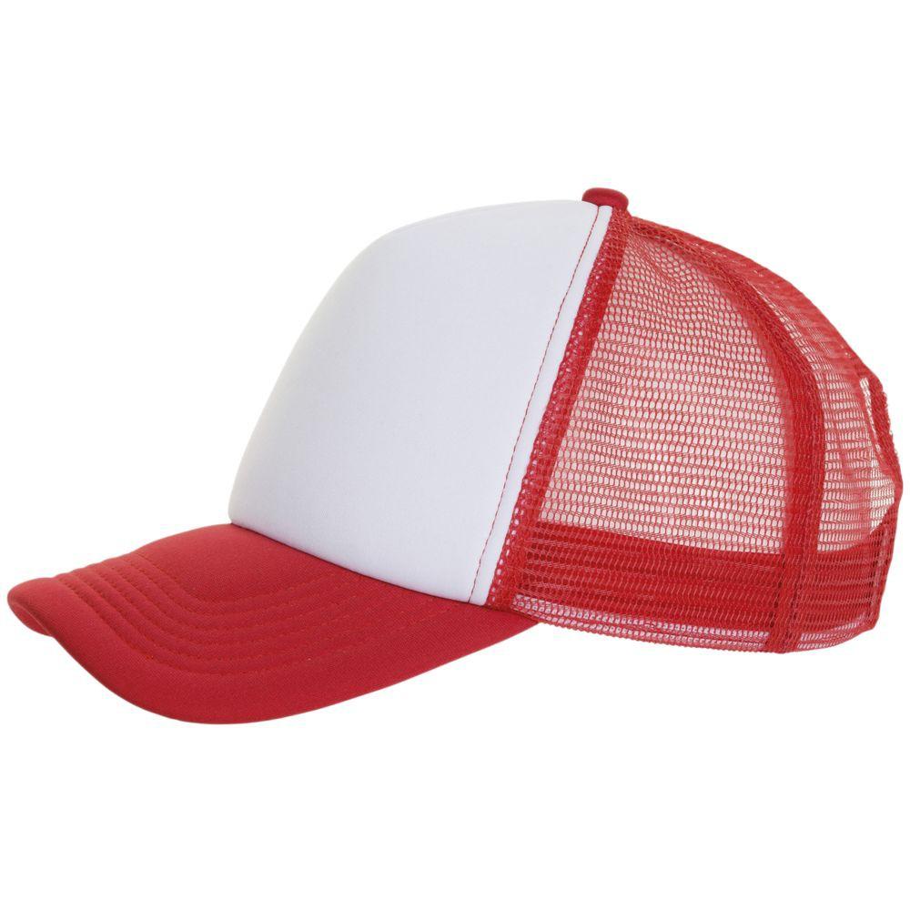 Бейсболка BUBBLE, красная с белым