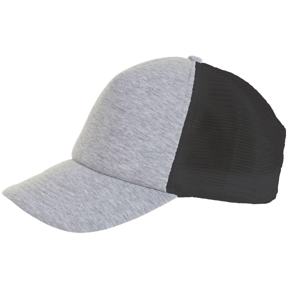 Бейсболка DODGE, серый меланж с темно-серым
