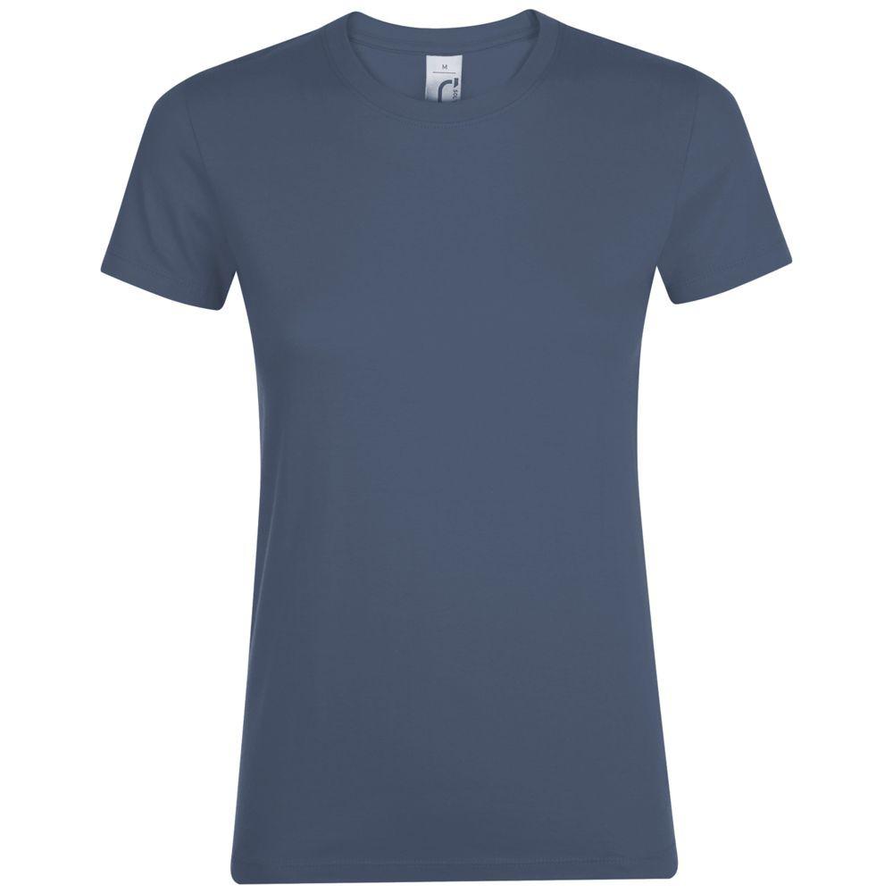Футболка женская REGENT WOMEN, синяя (джинс)