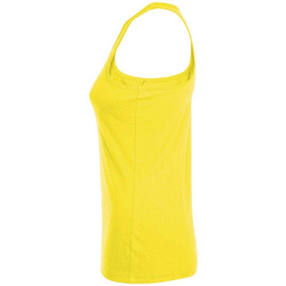 Майка женская JUSTIN WOMEN, лимонно-желтая