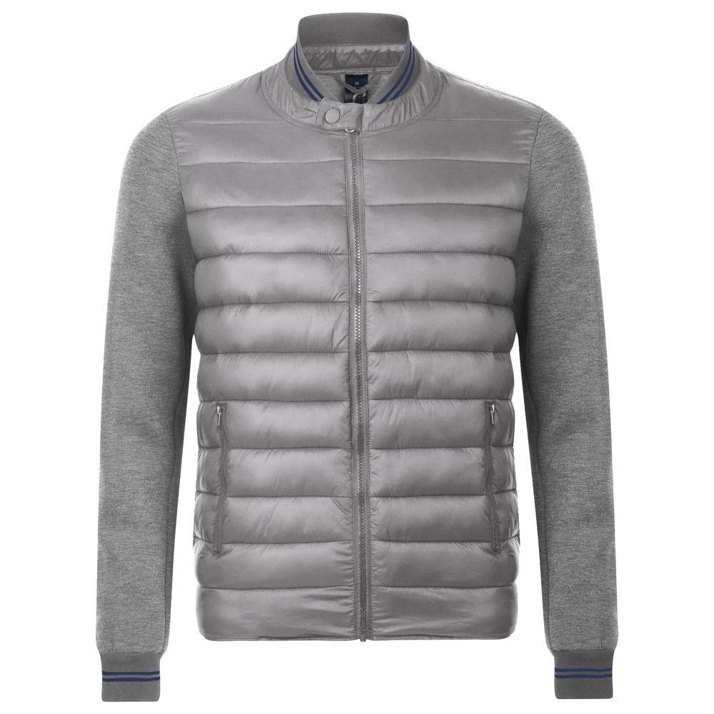 Куртка унисекс VOLCANO, серый меланж с серым