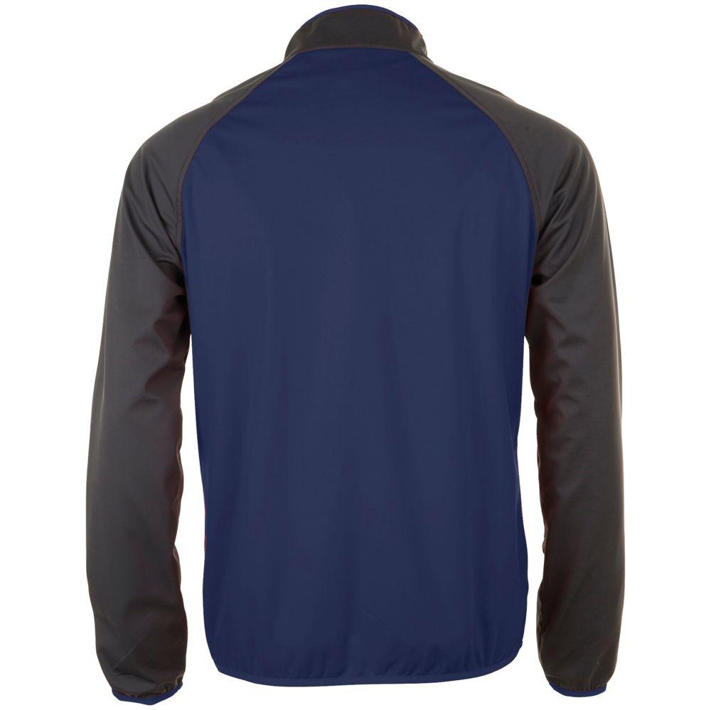 Куртка софтшелл мужская ROLLINGS MEN, темно-синяя с серым