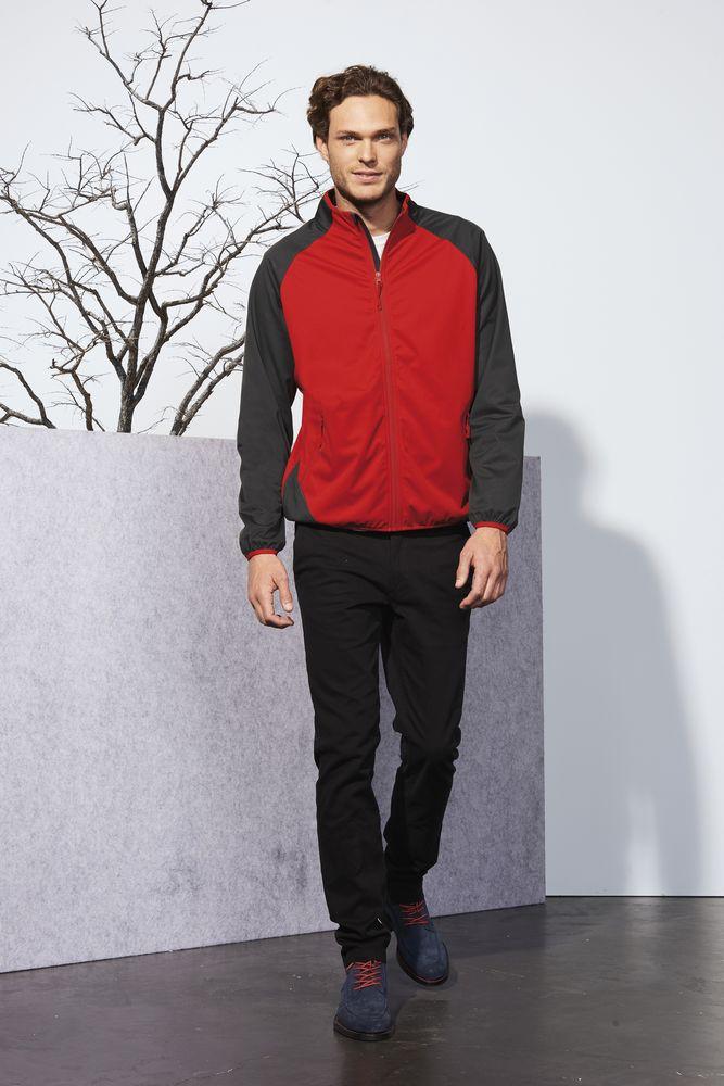 Куртка софтшелл мужская ROLLINGS MEN, красная с серым