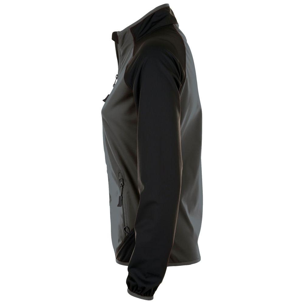 Куртка софтшелл женская ROLLINGS WOMEN, темно-серая с черным