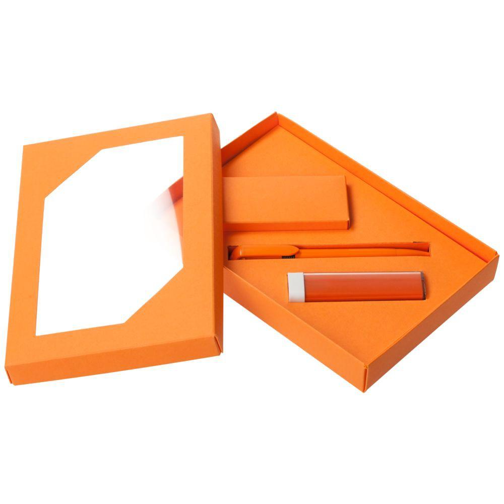 Набор Energy: аккумулятор и ручка, оранжевый