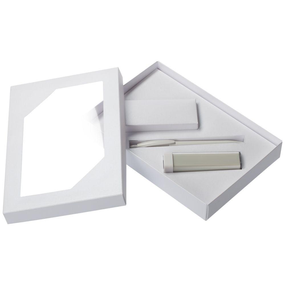 Набор Energy: аккумулятор и ручка, белый