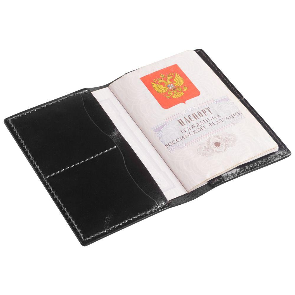 Обложка для паспорта Exclusive, черная