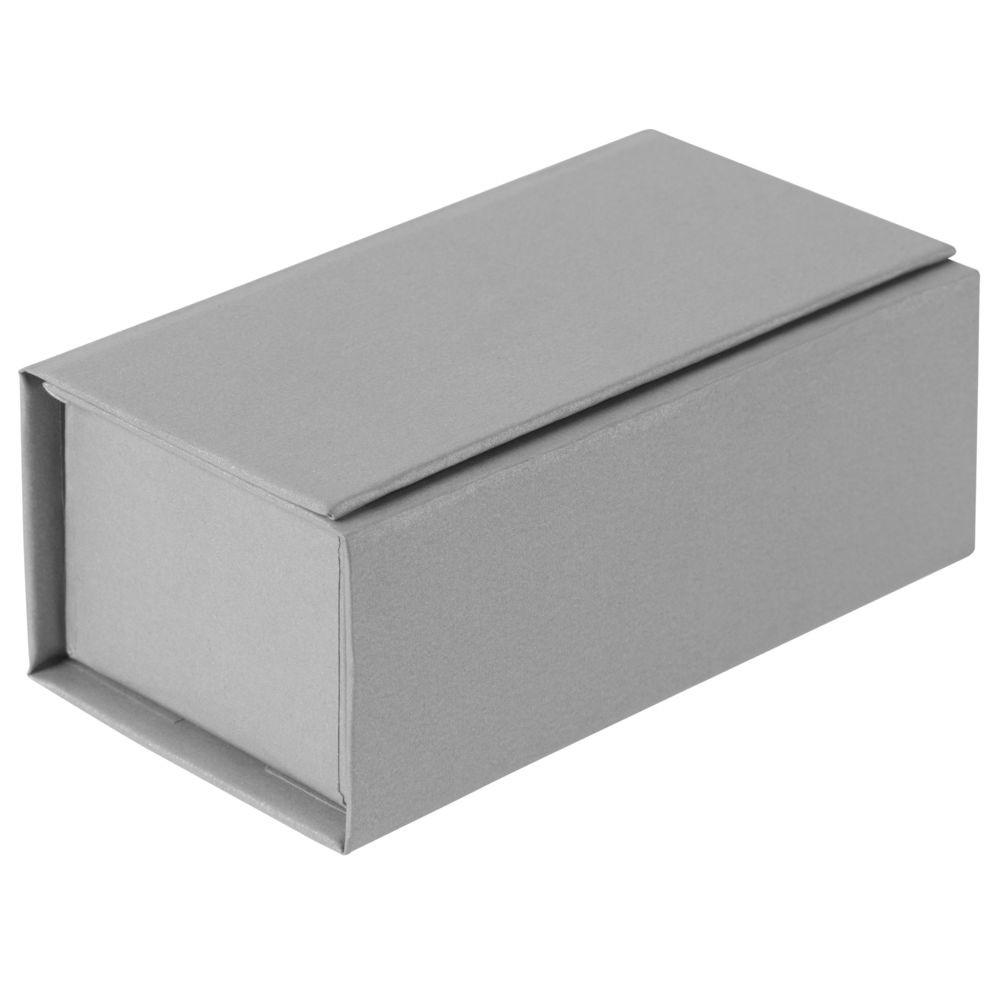 Коробочка под аккумулятор Flip, серебристая