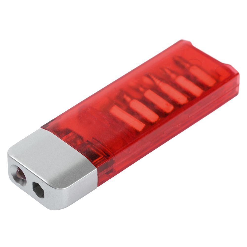 Отвертка с фонариком Miner, красная