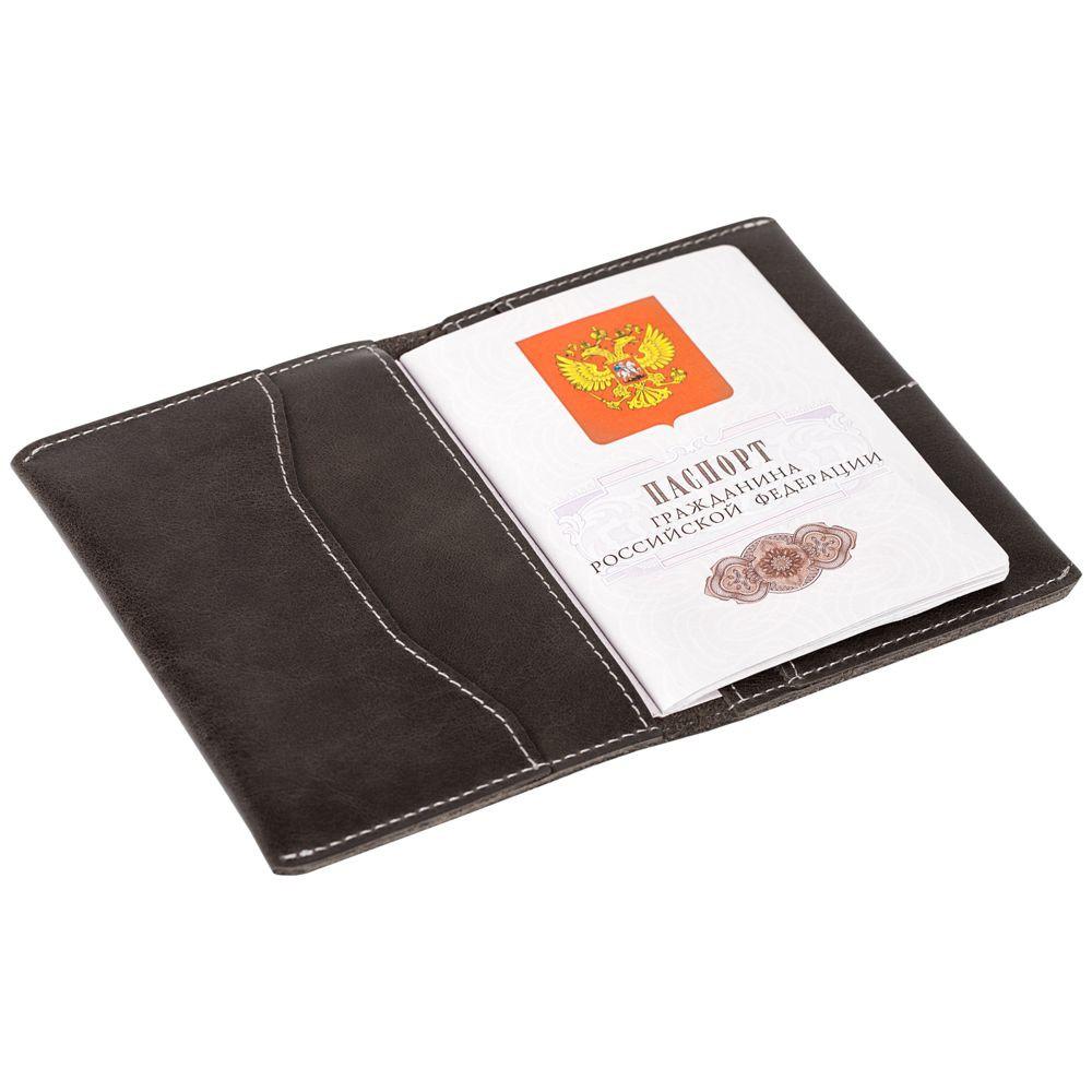 Обложка для паспорта Apache, темно-серая
