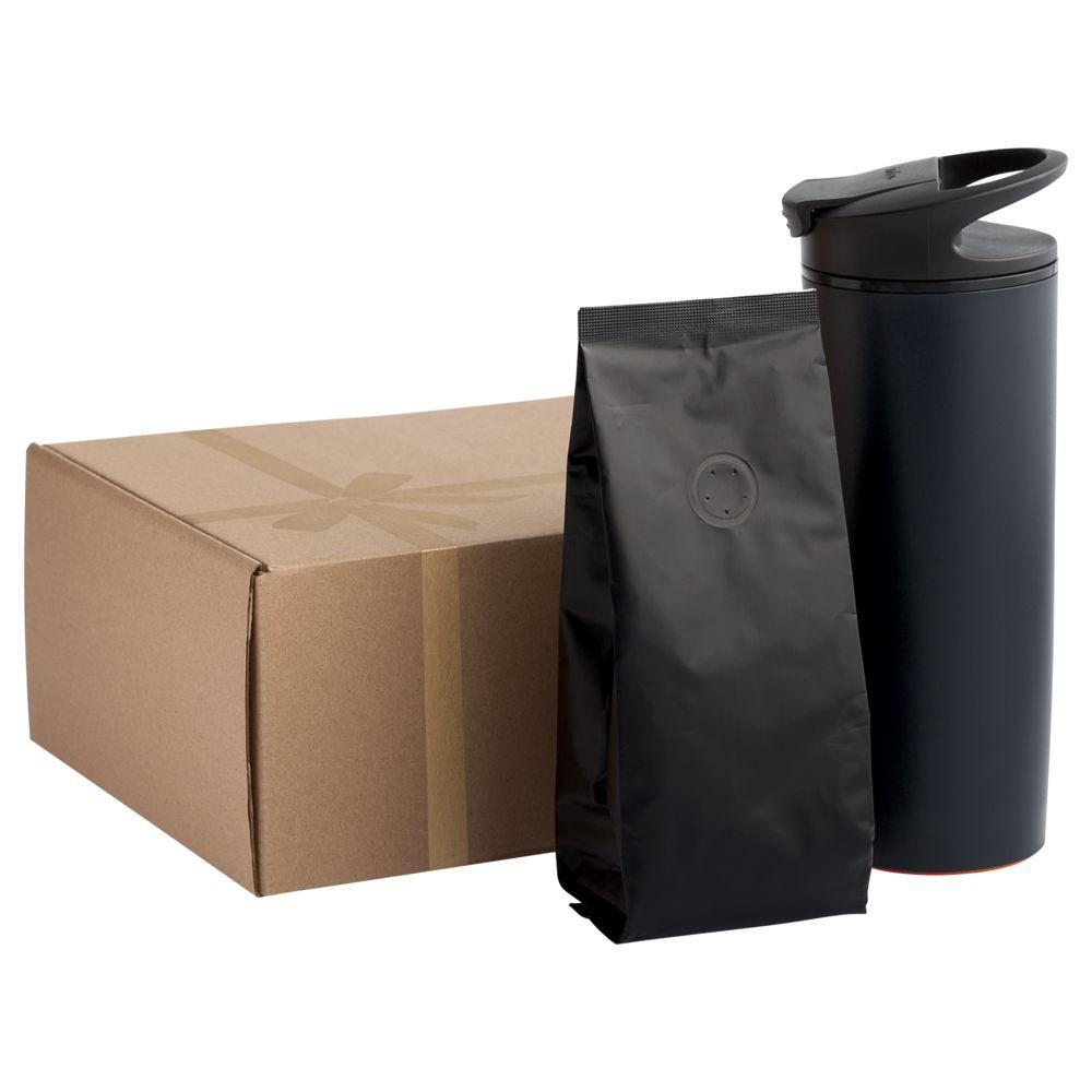 Кофе в зернах, в черной упаковке