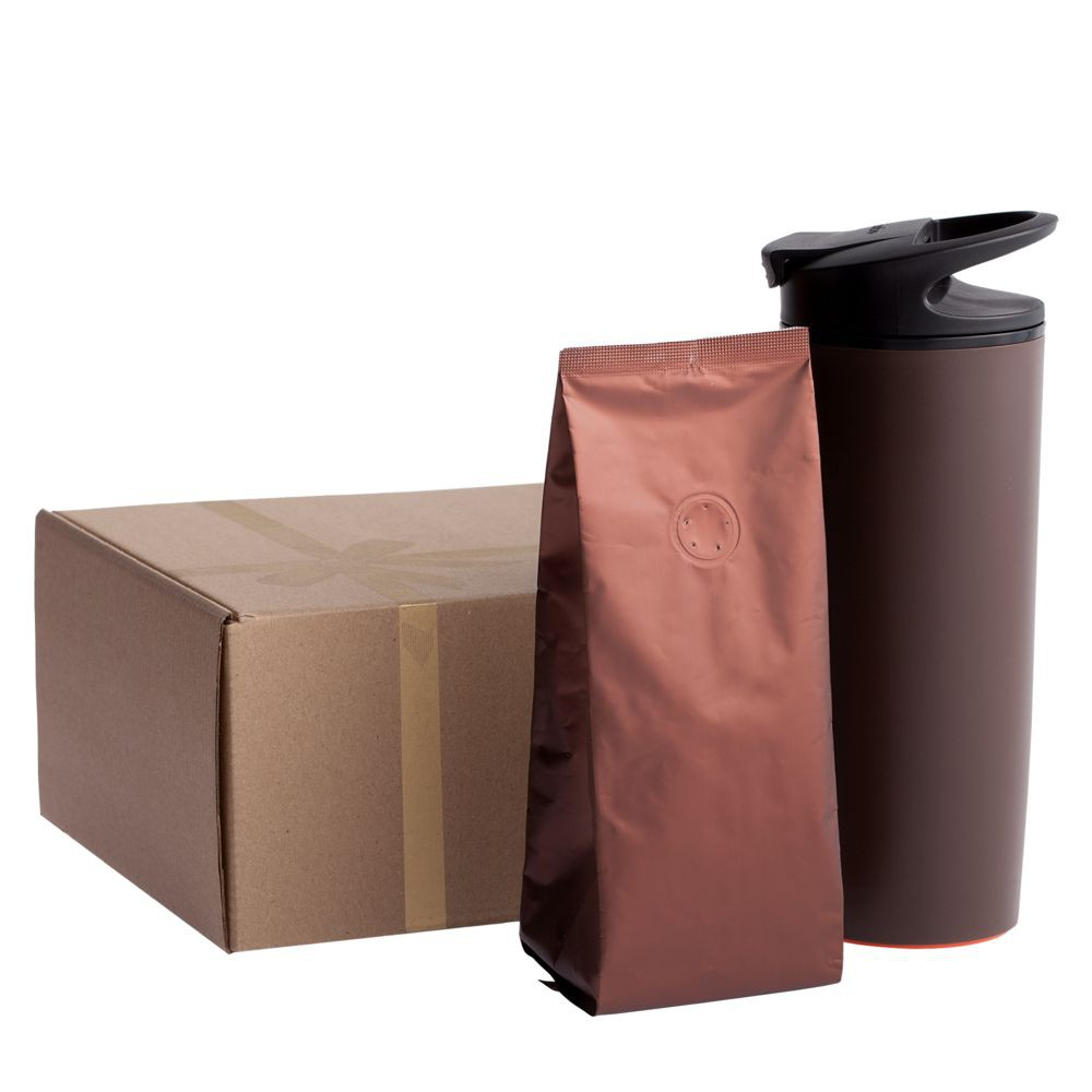 Набор Coffee to go, коричневый