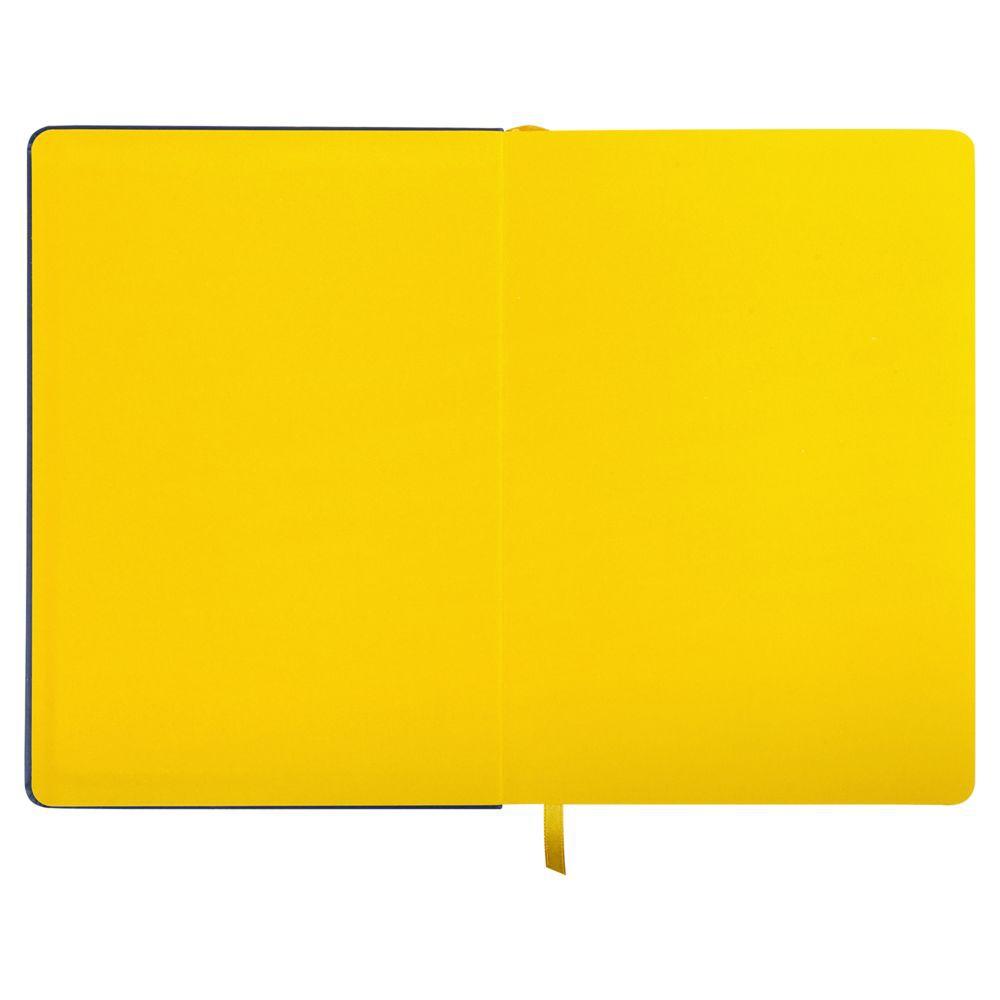 Ежедневник Blues недатированный, синий с желтым