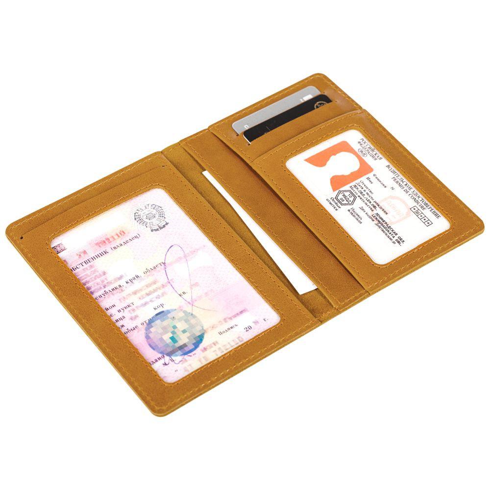 Бумажник водителя Apache, горчичный