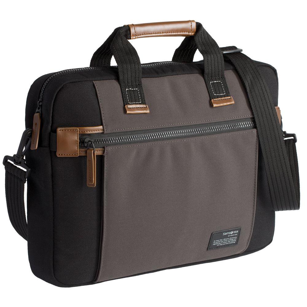 Сумка для ноутбука Sideways Laptop Bag, черная с серым