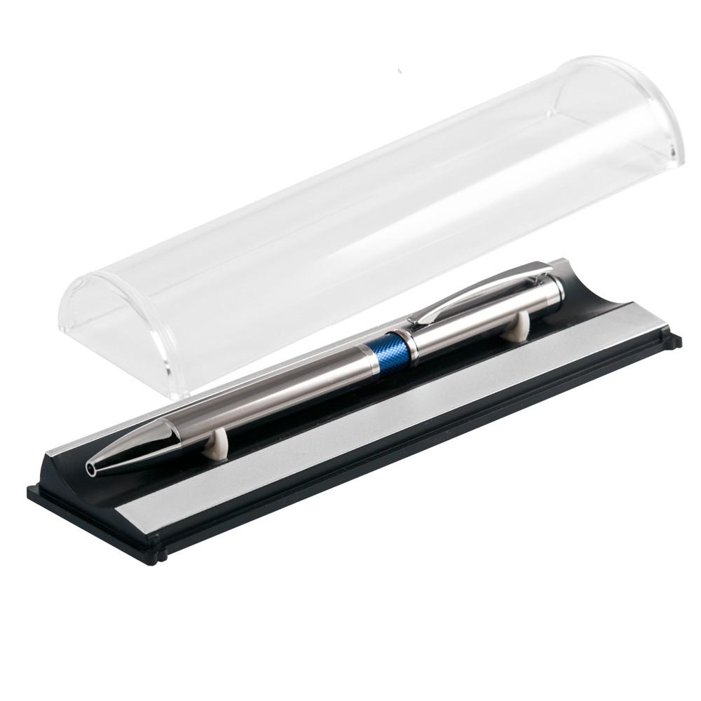 Шариковая ручка, iP, наж. мех-м, корпус- металл, синий, сил. стилус. В УПАКОВКЕ