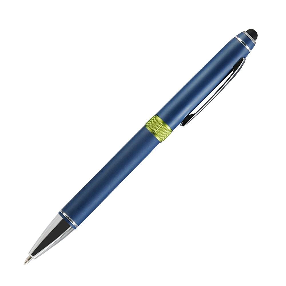Шариковая ручка, Ocean, поворотный мех-м,алюминий, покрытие синий матовый, гравировка, оливковый