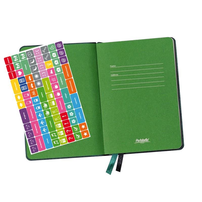 Ежедневник недатированный, Portobello Trend, Voyage, 105х150 мм, 176стр, темно-зеленый, линейка