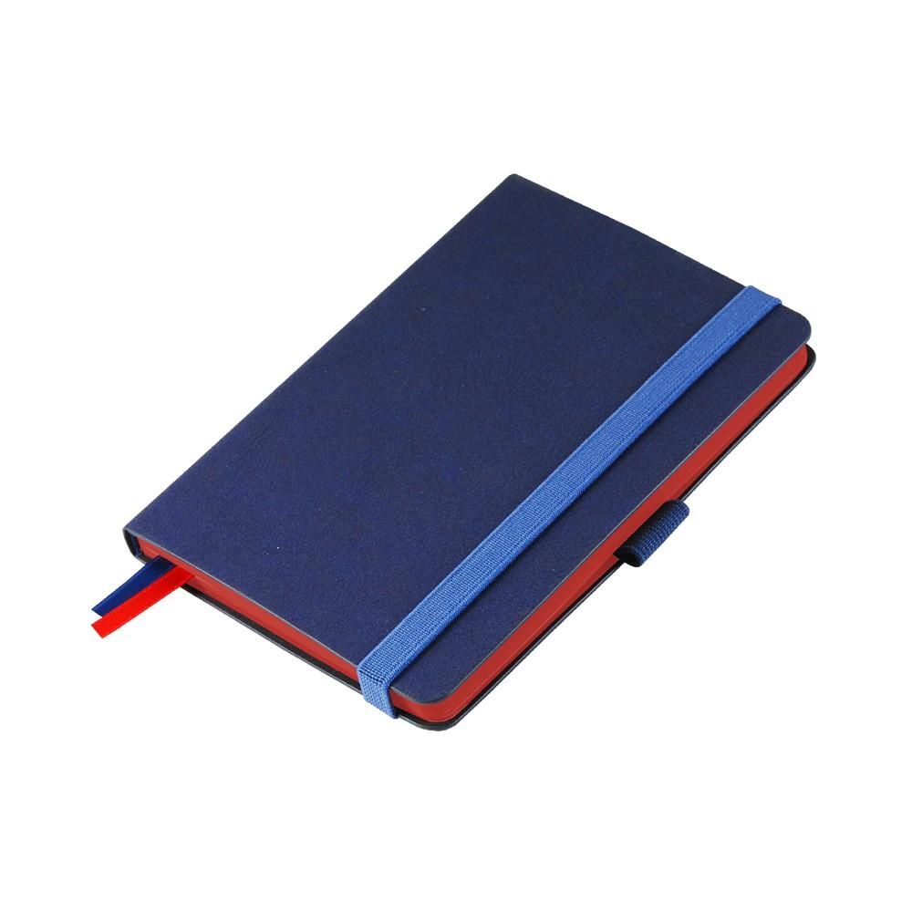 Ежедневник недатированный, Portobello Trend, Blue Ocean,105х150 мм,176стр,синий,красный срез,линейка
