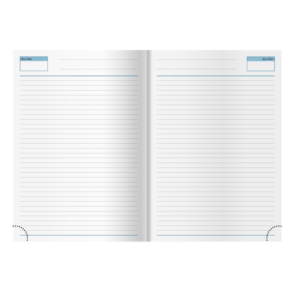Ежедневник недатированный Dallas 145х205 мм, синий