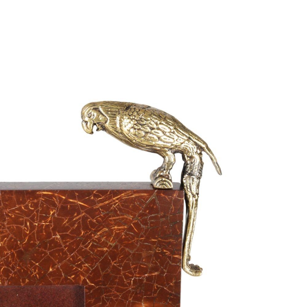 Фоторамка с попугаем (коричневая)
