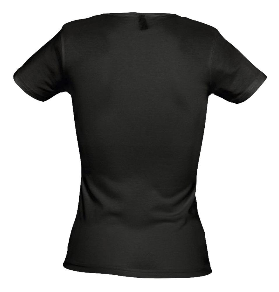 Футболка стретч женская MIAMI 170 черная