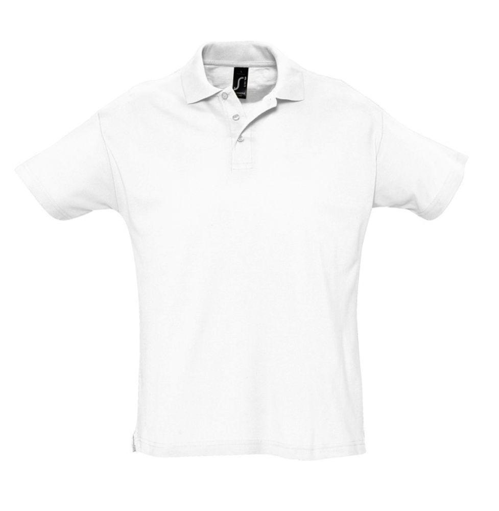 Рубашка поло мужская SUMMER 170, белая