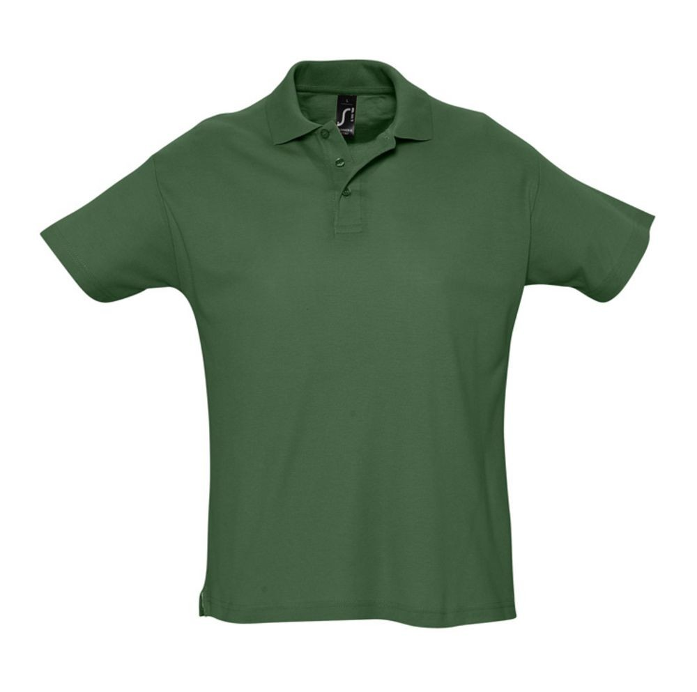 Рубашка поло мужская SUMMER 170, темно-зеленая